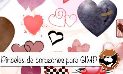 Previsualización - Pinceles de corazones para Gimp