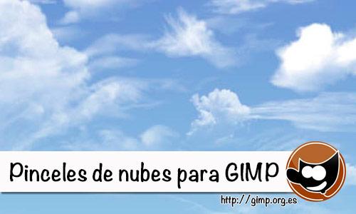 Pinceles de nubes para Gimp