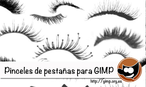 Pinceles de pesta�as para Gimp